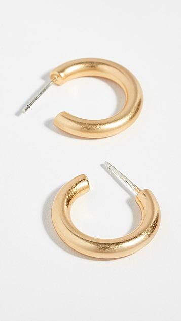 Madewell 小号粗圈式耳环