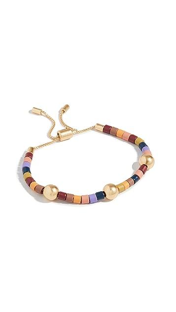 Madewell 彩虹珠饰滑扣手链