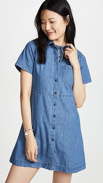 Madewell 合身喇叭形衬衣连衣裙