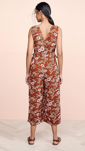 Madewell Waikiki 山坡雏菊图案罩衫连身衣