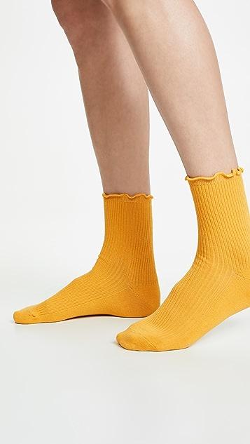 Madewell 两双装荷叶边短袜