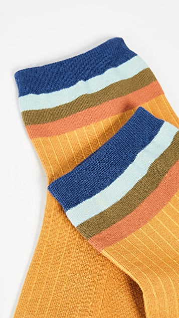 Madewell 彩虹条纹踝袜