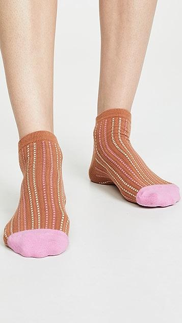 Madewell 缝线条纹踝袜