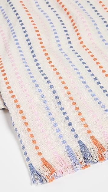Madewell 梭织丝线条纹围巾