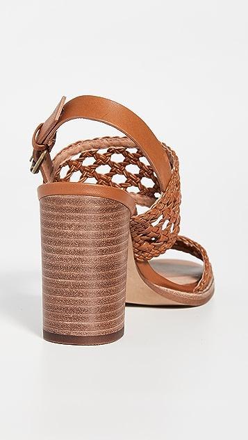 Madewell 篮式编织高跟凉鞋