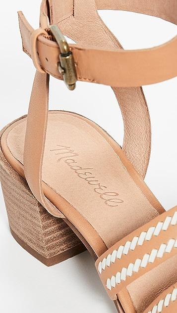 Madewell 百合锁缝凉鞋