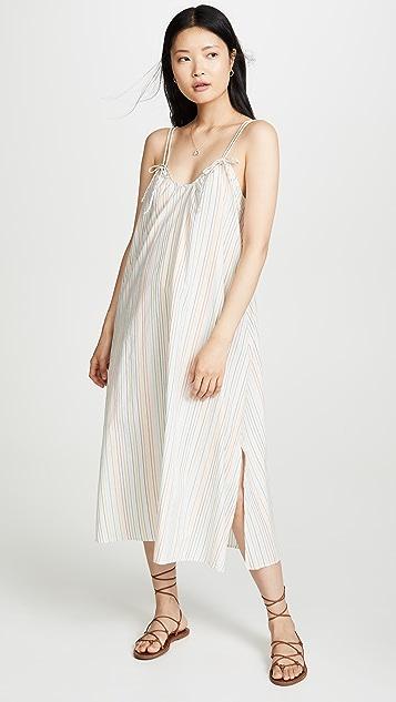 Madewell 饰带长连衣裙