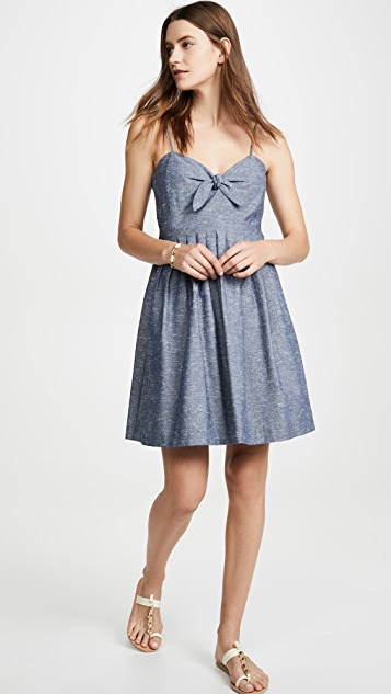 Madewell 绑带正面吊带连衣裙