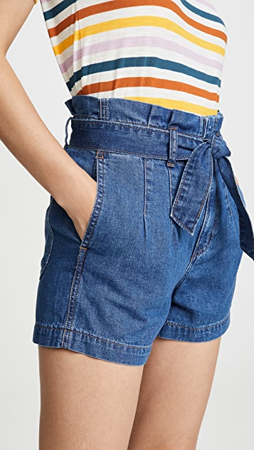 Madewell 挺括纸包短裤