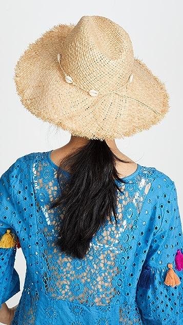 Madewell 贝壳装饰波西米亚风格草编帽