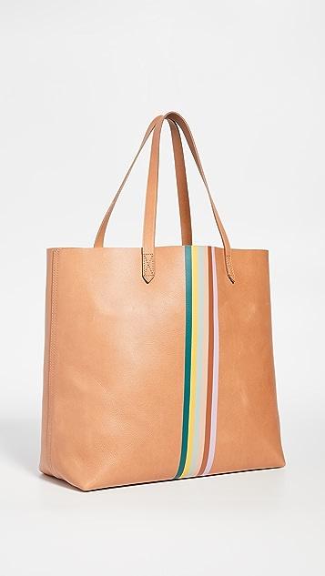 Madewell 彩虹条纹经典便携手提袋