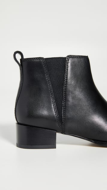 Madewell The Carina 粗跟短靴