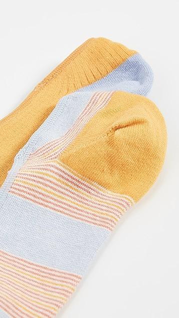 Madewell Riddell 条纹 2 双装船袜