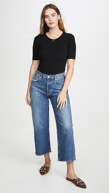 Madewell 短袖圆领丁字裤紧身连衣裤