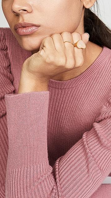 Madewell 宝石心形个性戒指