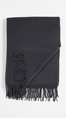 메종 키츠네 Maison Kitsune Wool Scarf,Anthracite