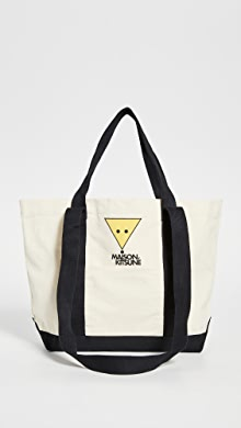 메종 키츠네 스마일리 폭스 토트백 Maison Kitsune Smiley Fox Small Shopping Bag,Multicolor