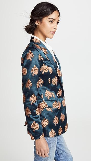 Scotch & Soda/Maison Scotch 豹纹长款西装外套