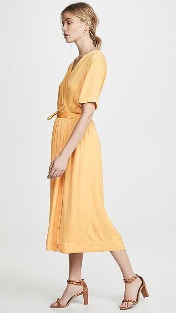 Scotch & Soda/Maison Scotch 裹身式中长连衣裙