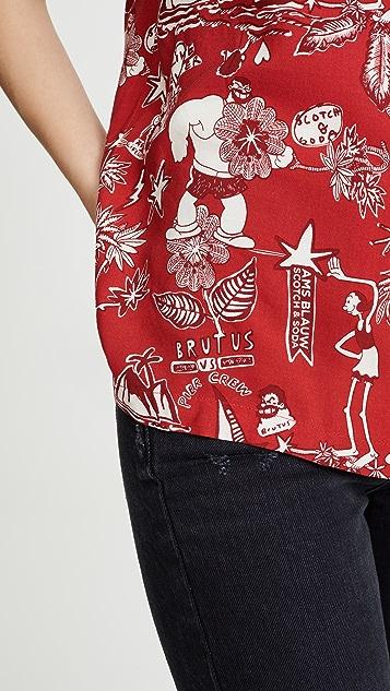 Scotch & Soda/Maison Scotch Brutus 印花夏威夷风格衬衫
