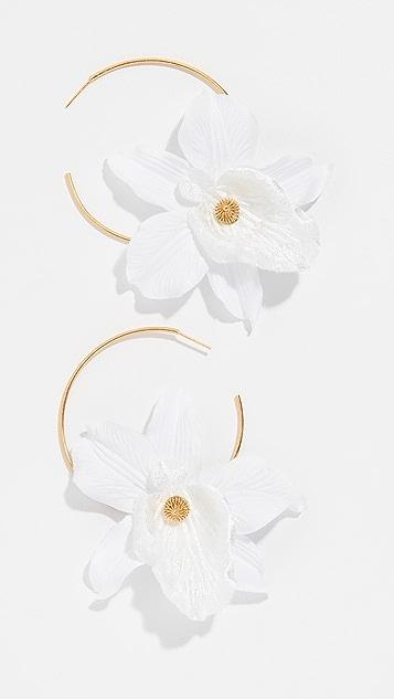 Mallarino 兰花圈式耳环