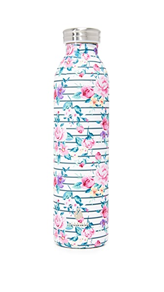 manna 20oz retro air floral water bottle