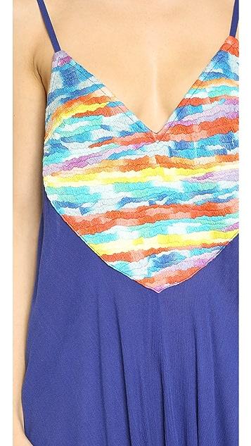 Mara Hoffman 风景彩虹刺绣连身衣