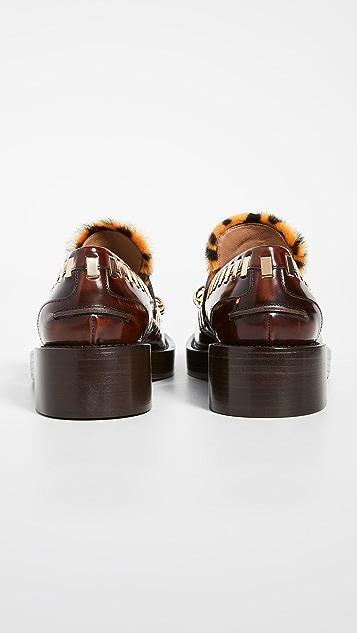 Marni 环圈乐福鞋