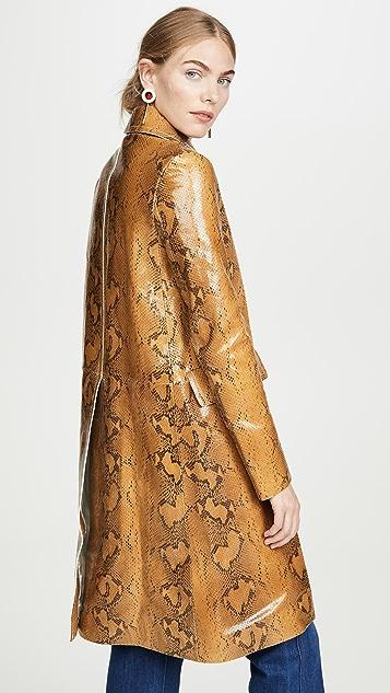 Marni 皮蛇纹外套