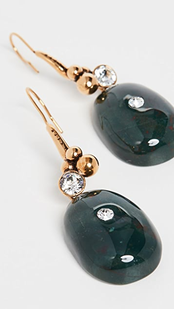 Marni 金属和宝石耳环