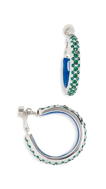 Marni 金属和仿钻圈式耳环