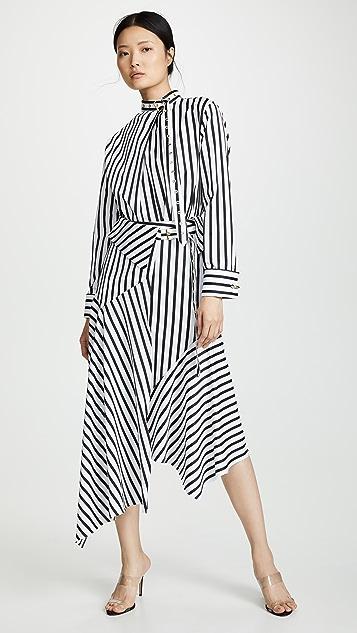 Marques Almeida 条纹裹身式半身裙
