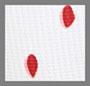 白/红/牡丹红圆点