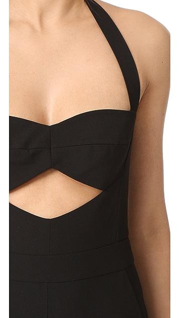 Michelle Mason 镂空抹胸挂脖式连身衣