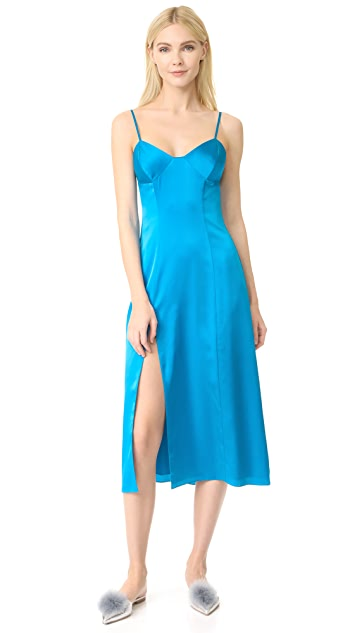 Michelle Mason 束身开衩中长连衣裙