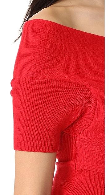 Michelle Mason 短袖交叠裹身上衣
