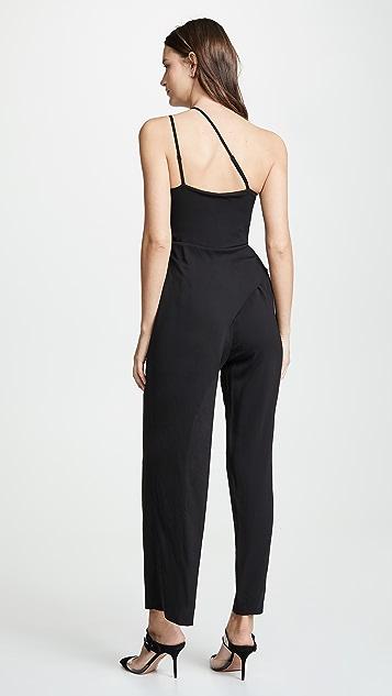 Michelle Mason 垂褶不对称固定带连身衣