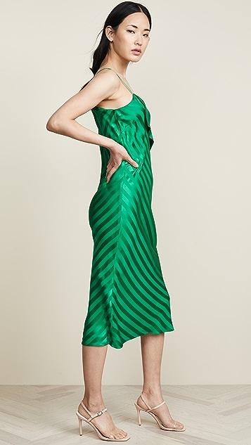 Michelle Mason 翻领吊带裙