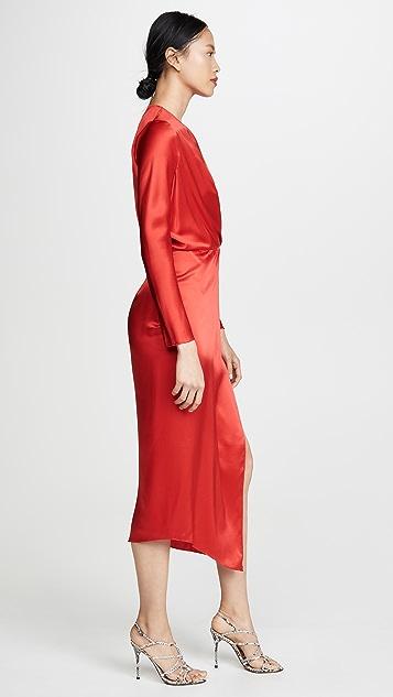Michelle Mason 折纸工艺中长连衣裙