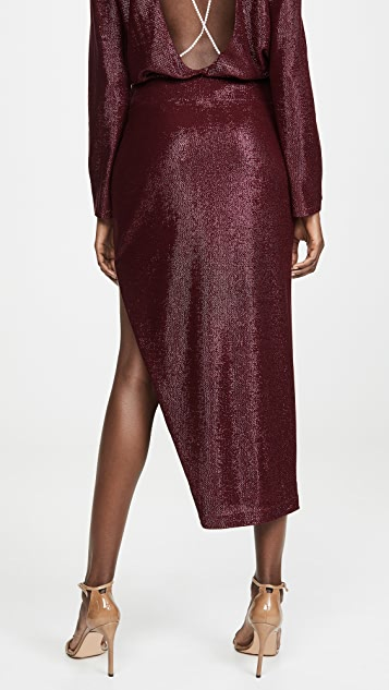 Michelle Mason 水晶饰半身裙