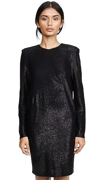 Michelle Mason 水晶长袖迷你连衣裙