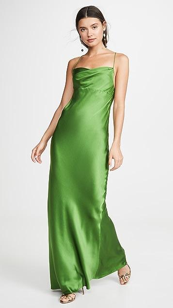 Michelle Mason 垂褶斜纹礼服