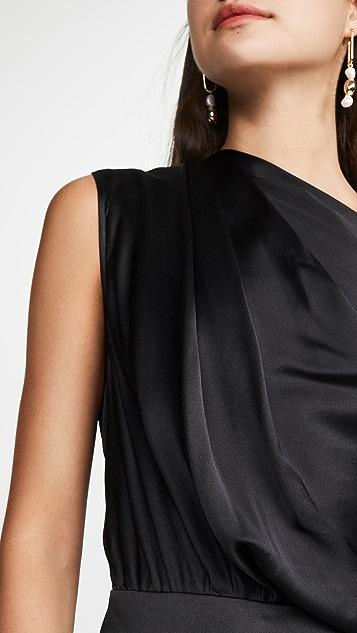 Michelle Mason 单袖垂褶设计连衣裙