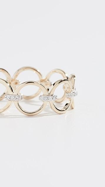 Mateo 14K 钻石相连圆圈戒指