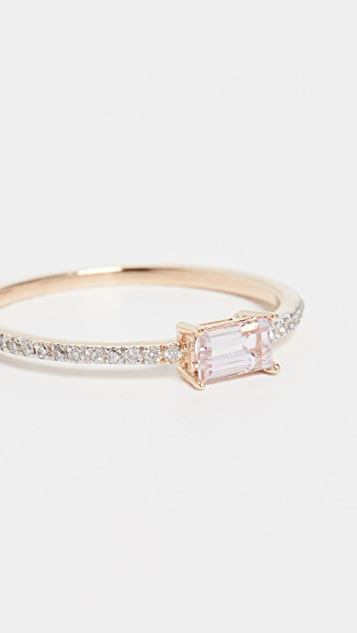 Mateo 14k Emerald Cut Morganite 戒指