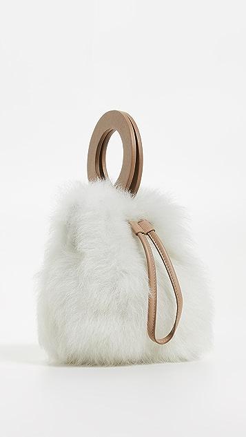 Maison Boinet 小号连毛羊皮桶包