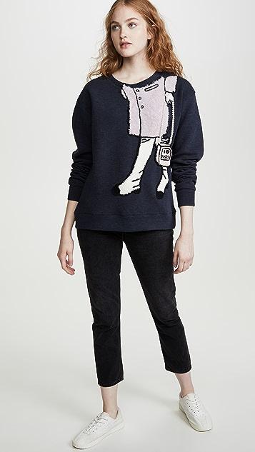 Michaela Buerger 条纹心形毛衣