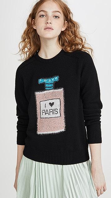 Michaela Buerger I Love Paris 香水瓶毛衣