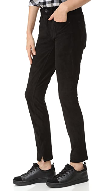 McGuire Denim Newton 人造反绒皮紧身牛仔裤