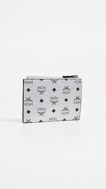 MCM Visetos Original 拉链钥匙钱包
